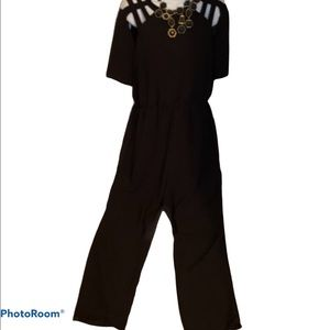 H&M black flared leg jumpsuit